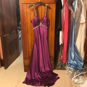 Purple prom dress from Caché